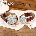 Новое Прибытие Лучший Бренд Luxury Влюбленных Пара Часы Женщины Мужчины Кожаный Ремешок Часы Пара Кварцевые Наручные Часы Montre Homme Y107