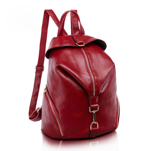 Europe soft Leather Backpack Shoulder New Leather fashion women Backpack 787ae9b10568b