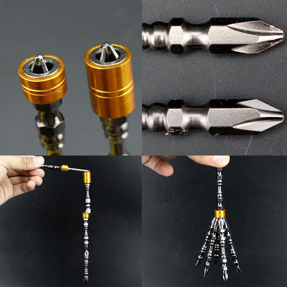 PH2 Hardness 65MM Magnetic Bit Set Cross Head Screwdriver Bit Single Head Electric Screwdriver Phillips Screw Driver With Magnet extension for electric screwdriver set in six batch of electric screwdriver head angle cross head screwdriver import quality