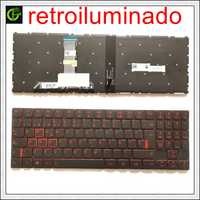 Nuevo teclado español retroiluminado para Lenovo Legion Y520 Y520-15IKB Y720 Y720-15IKB R720 R720-15IKB 15 15IKB 9Z. NDKBN. D01 SP latin LA