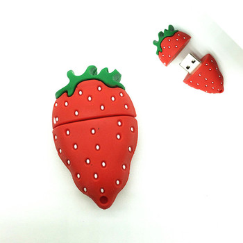 Top Sell fruit style 8GB usb pendrive 4GB 16GB strawberry memory stick 32GB hot selling usb flash drive girl decoration