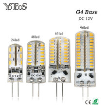 YOTOOS G4 LED Lamp 12V Corn Light 1.5W 2W 3W 4W Bulb 3014 360 Beam angle g4 Led Lamp Replace Chandelier Crystal  halogen Light