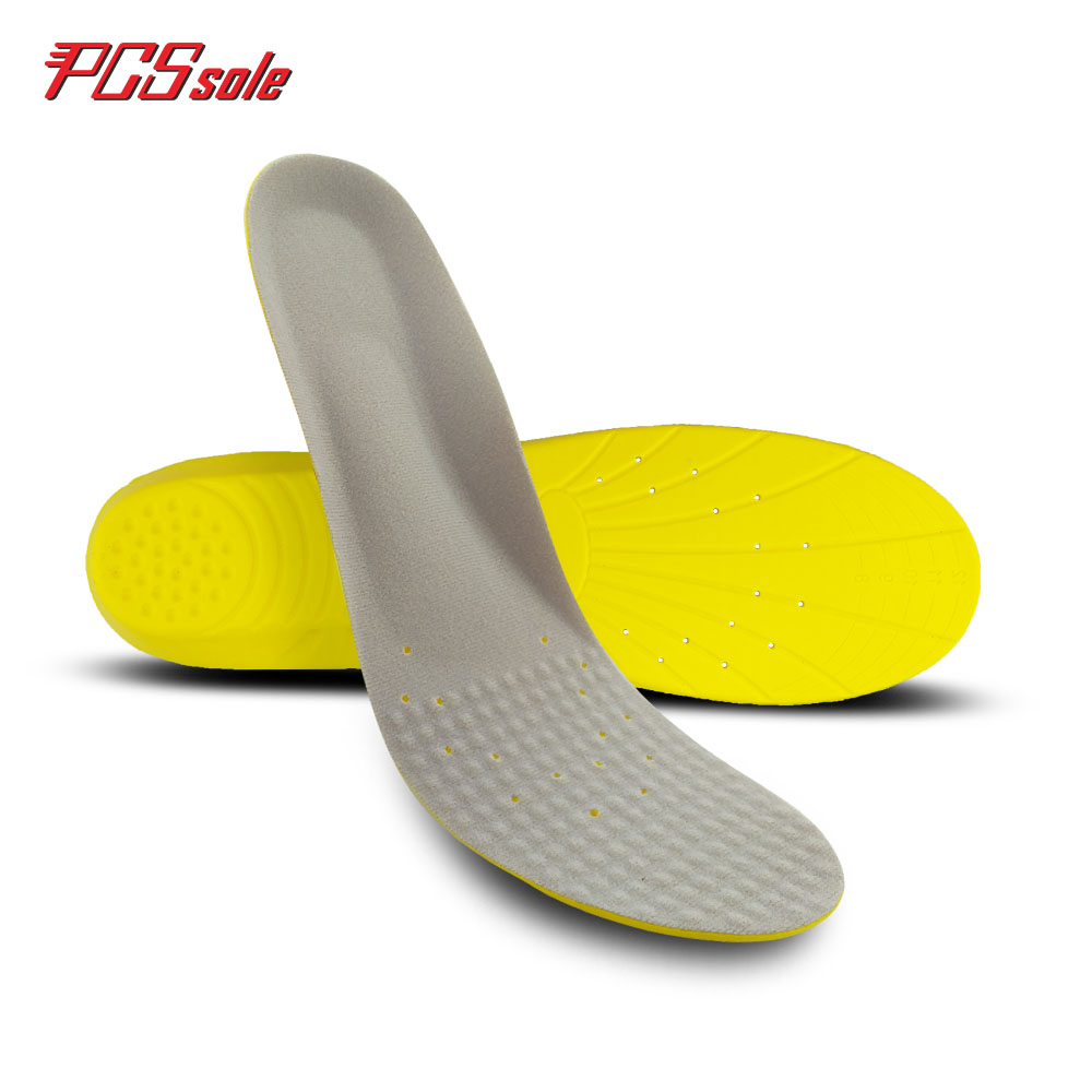 Original PCSsole PU memory foam insoles orthotics arch supports shock absorbtan pain relief for man shoes pad cushion trim P1004