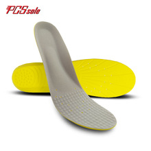 Buy Original PCSsole PU memory foam insoles orthotics arch supports shock absorbtan pain relief for man shoes pad cushion trim P1004 directly from merchant!