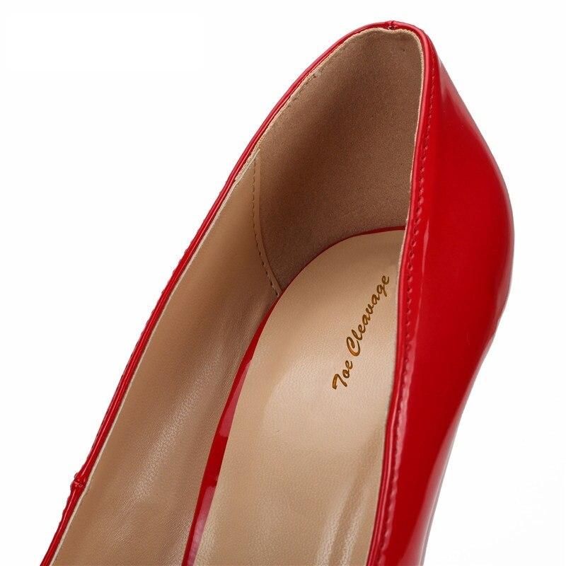 Cm Fiesta Primavera 15 otoño Tamaño rojo Plataforma 17 Punta Mujer 14 Estilo Boda Zapatos De Tacón 9 Redonda Extraño Negro SFpqwFxC