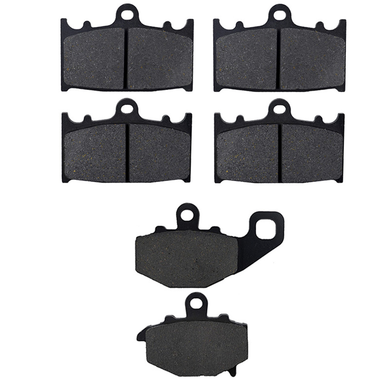 AHL Motorcycle Front and Rear Brake Pads For KAWASAKI ZX 600 E (ZZR 600 ) 1993-2007 Black Brake Disc Pad Kit motorcycle front and rear brake pads for for kawasaki vn 1700 vn1700 vulcan vaquero 2011 2014 black disc pad