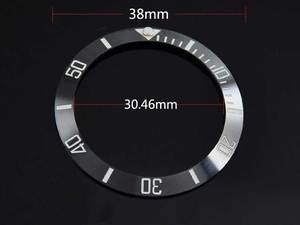 Image 5 - 38mm wit blauw zwart groen keramische inserts voor 40mm SUB horloge case automatisch uurwerk horloge bezel BB1
