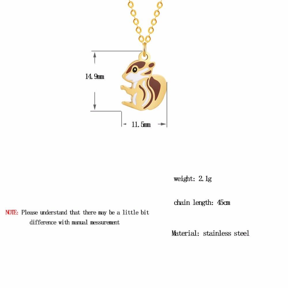 Dinosaur Rabbit Squirrel Penguin Crab Unicorn Bird Deer Owl Fish Dog Cat Animal Necklace Pendants Pet Lover Gift Jewelry Gold STYLE 8