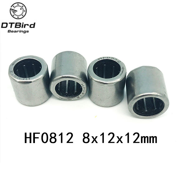 Free Shipping HF0812 (8X12X12MM ) HF081212 One-way cluth needle roller bearing 10PCS/LOT free shipping big roller reinforced one way bearing starter spraq clutch for kawasaki prairie kvf400 1997 2002