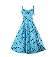 New Europe And The United States Polka Dot Elegant Romantic Summer Dresses XS S M L