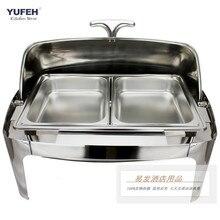 Квадратная Буфетная печь из нержавеющей стали, роскошная печь с изоляцией, буфет, посуда с натиранием
