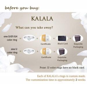 Image 4 - Классическое серебряное кольцо Moissanite, 1 карат, IJ, ювелирное изделие с цветными бриллиантами Lab, ювелирное изделие в простом стиле, кольцо на годовщину