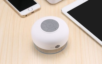 Waterproof Bluetooth Speaker with Suction Cup Holder 5