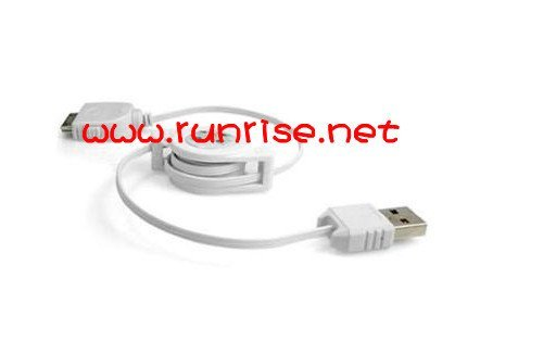 Retractable USB Cable For iPhone/IPOD with free shipping