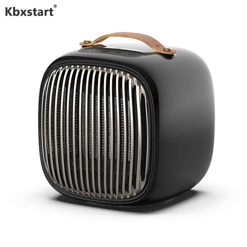 Portable pratique Mini ventilateur chauffage pièce à main espace extérieur PTC Air réchauffeur maison chaleur électrique chauffage Thermostat 1000 W EU Plug