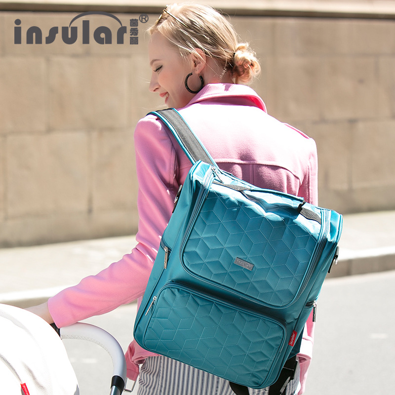 Multicolored Waterproof Baby Diaper Bag Large-capacity Fashionable Mothers Maternity Bag Baby Stroller Nappy Bag Mommy Bag