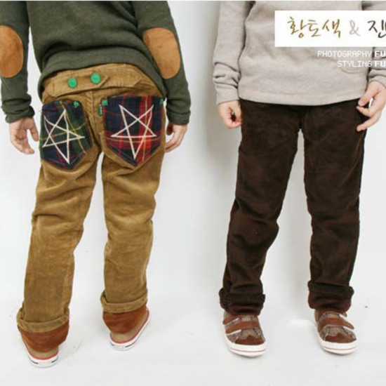 Boys Brown Corduroy Pants