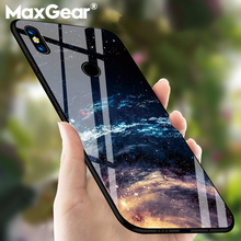 MaxGear Lüks Yıldızlı Cam Huawei Nova 3 Nova3 3i Coque Darbeye Dayanıklı Cam arka kapak Mate 10 Pro Onur 8 9 10 Lite Çapa