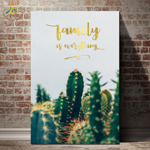 Cactus Life Green Plants Canvas Art Painting Wall Art Poster Home Decoration Posters And Prints Plant Pictures for Living Room цена 2017