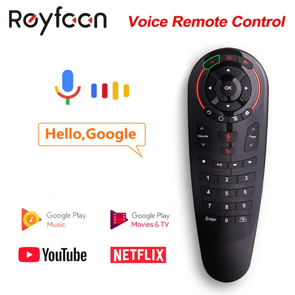 G30 Suara Remote Control Air Mouse Wireless Mini Kyeboard dengan IR Belajar untuk Android TV Box PC