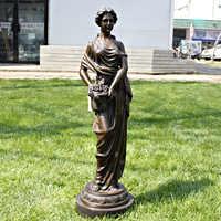 Automne fille bronze sculpture artisanat comme À La Maison D'ameublement cadeaux d'affaires décoration de cuivre