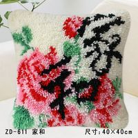 New Arrivals Chinese Style Retro Elegant Pattern DIY Kits Handmade Cushions Set Home Decoration Pillow Office
