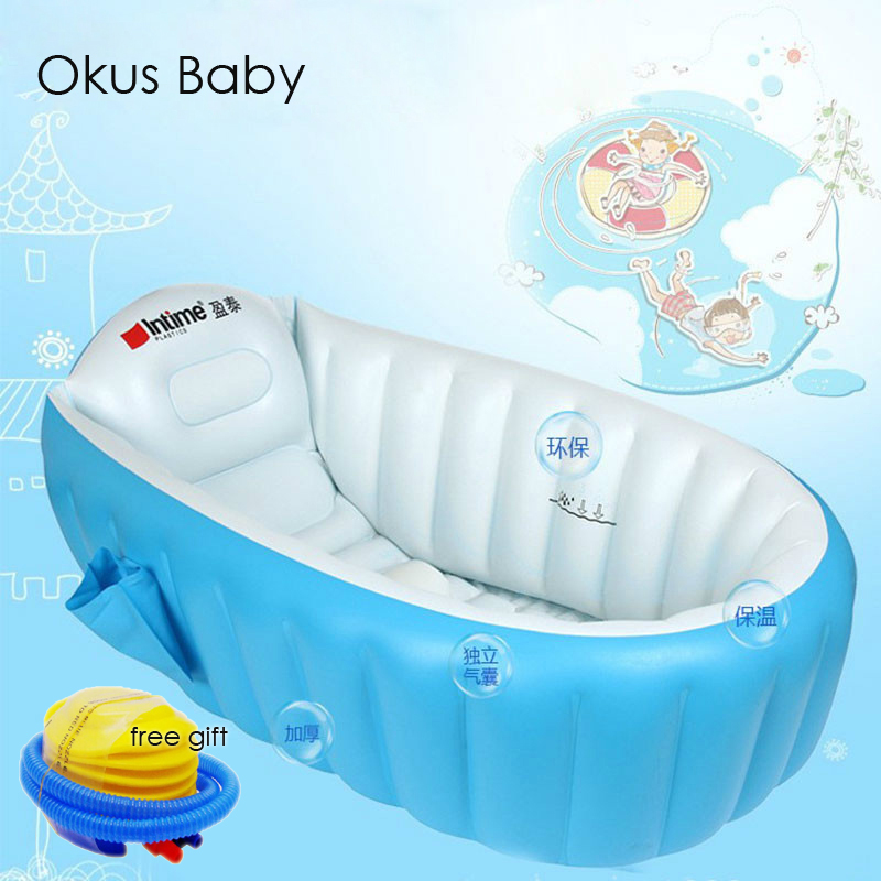 Portable bathtub inflatable bath tub Child tub Cushion Warm winner keep warm folding Portable bathtub With
