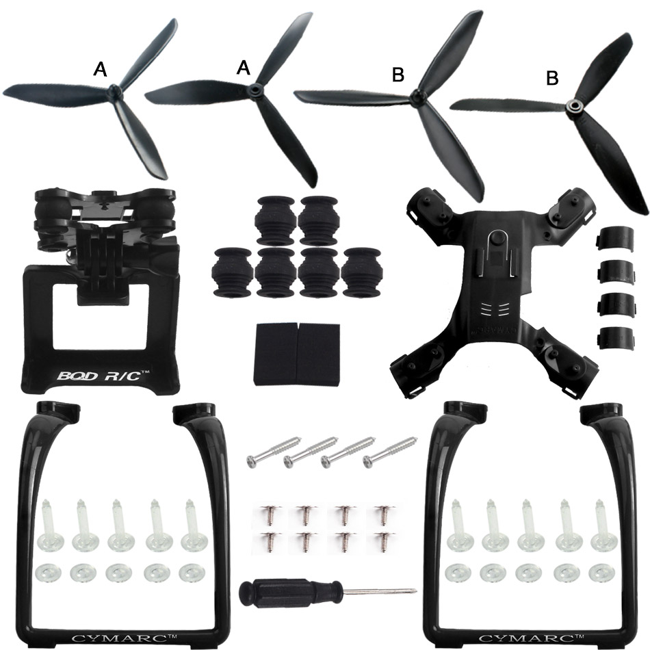 MJX B2W B2C ( MJX Bugs 2 Upgraded triangular paddle ) Legs Landing Gear and Action Gimbal Mount Camera Holder Accessories коптеры mjx квадрокоптер гоночный mjx bugs 8 с бесколлекторными моторами 5 8g артикул bugs 8 шт