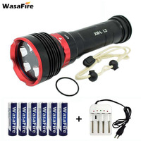 Underwater 100m Lantern Dive Flashlight Scuba Diving Torch XM L L2 Waterproof Video Lamp With 18650 Battery + Charger For Diver