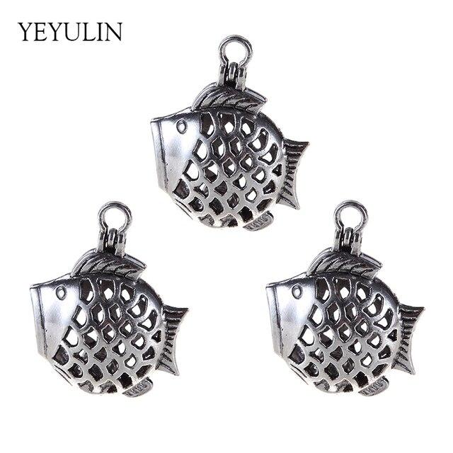 1pcs alloy silver tone cute fish jewelry making supplies beads cage 1pcs alloy silver tone cute fish jewelry making supplies beads cage essential oil diffuser pendant trendy aloadofball Gallery