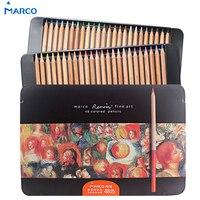 Marco Professional Color Pencils 24 36 48 Prismacolor Colored Pencils Tin Color Set Lapis De Cor