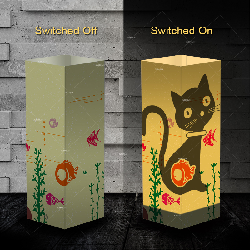 Pet Addiction cute cat design Night Light Beside Table shadow LED night light Lamp as gifts for cat lovers все цены