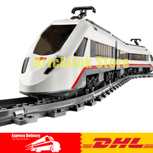 IN-STOCK DHL Lepin 02010 New 610Pcs The High-speed Passenger Train Building Remote-control Trucks Set Blocks Bricks Toys 60051