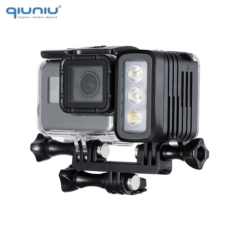 QIUNIU 50M Underwater Diving LED Light Waterproof Fill Light for GoPro Hero 8 7 6 5 4 for DJI Osmo Action for Canon DSLR Cameras Pakistan