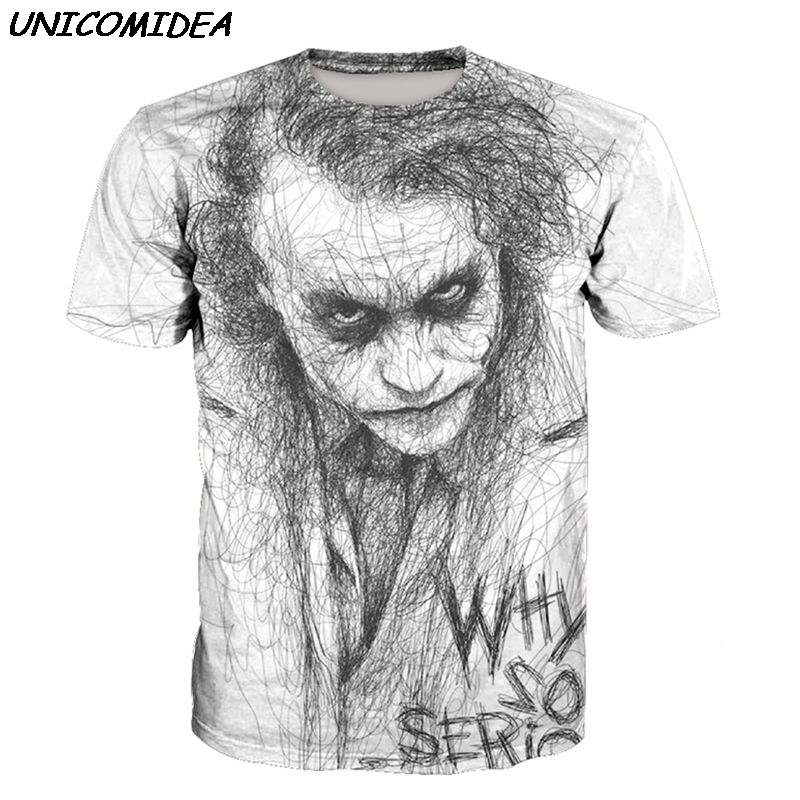 New Joker 3D T Shirt Batman Joker Camisa Masculina WHY SO SERIOUS Tshirts Tops Tees Halloween Sweatshirt