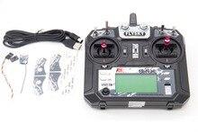 TCMM FlySky FS i6X 2.4 GHZ 10CH שלט רחוק עבור RC מסוק רב הרוטור drone
