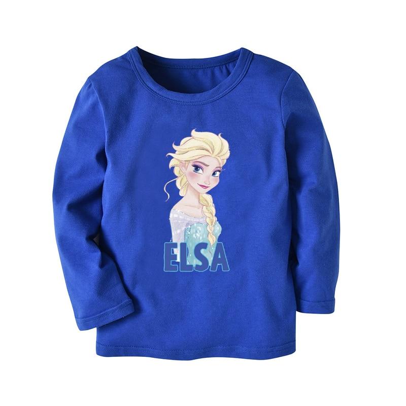 15865ac6f Spring 2018 Baby Girl T Shirt Snow Queen Elsa T-shirt Kids Top Tees Brand