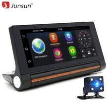"""Junsun E27 Samochód DVR Kamera GPS 6.86 """"Android 3G rejestrator registrator dash cam Video Auto z dwóch kamer FHD 1080 p czarna skrzynka"""