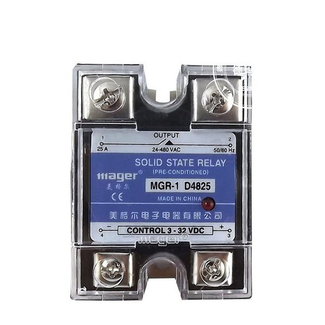 Single Phase Solid State Relay SSR 25A MGR 1 D4825 3 32VDC 2pcslot