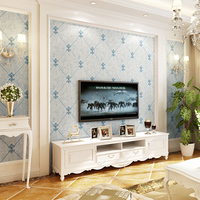 Modern Interior Wallpaper Roll for Walls 3D Embossed Non Woven Wall Wallpaper Texture Background Paper Rolls TV Wallpaper Plaid