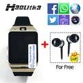 Moda feminina gv18 relógio bluetooth smart watch sim tf cartão homens Smartwatch Telefone para IOS android com câmera Rádio FM NFC PK DZ09