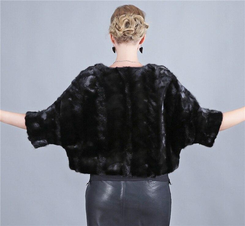 Noir Moitié Femmes Manches La Réel Nouveau Luxe Fourrure Gilet Long Mode Naturel De Manteau Qualité Toute Peau 2018 Haute Vison wTpHqn
