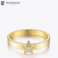 Enfashion Play Series Shiny Star Screw Cuff Bracelet Bangle Gold color Charm Bangles Bracelets For Women DIY Jewelry 70148005