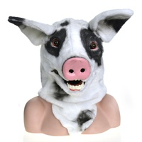 Masks masquerade moving mouth animal party spotted pig mask for adults