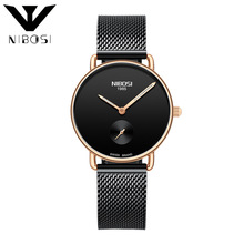 2019 new ultra-thin luminous simple casual waterproof ladies watch stainless steel mesh with quartz watch