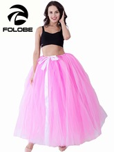 FOLOBE Handmade Stock Pink&white Tulle Skirt Women TUTU Tulle Skirt Wedding Bridal Bridesmaid Skirt Wedding Ball Gown Skirt