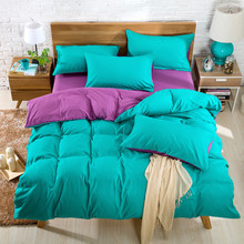 5f2e446772 Jogo de cama Lado AB Capa de Edredon Super King Set azul Escuro + bege 4 ·  23 Cores Disponíveis