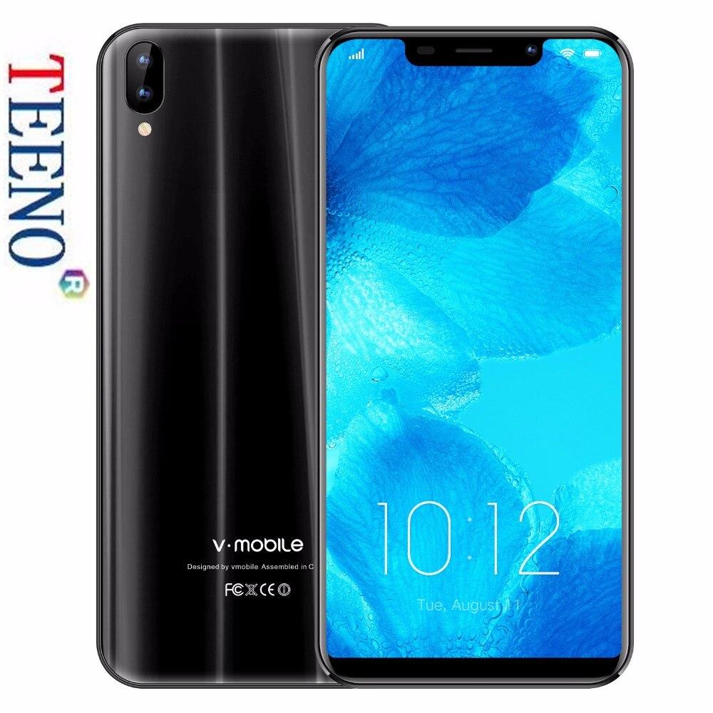 TEENO Vmobile XS разблокирован смартфон Android 7,0 5,85 дюйма HD 19:9 полный Экран 2 ГБ Оперативная память 16 ГБ Встроенная память 13MP + 5MP Камера 3800 мАч телефон…