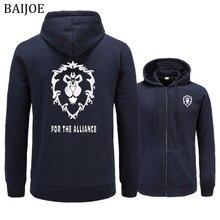 BAIJOE Hoodies Männer 2018 Neue Spiel WOW ALLIANZ & Horde Drucken Hip Hop Sweatshirt Mens casual Pullover Mode mit kapuze männlichen kleidung