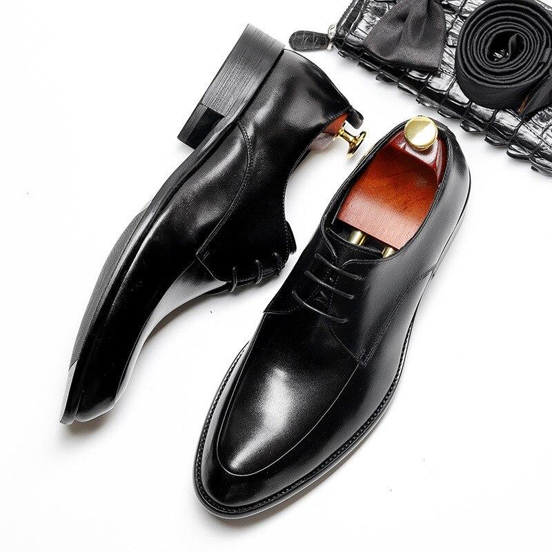 Oficina Alta Vaca Vestir Qyfcioufu Negro Tinto Punta Rojo Genuino De Encaje Hombre Para Cuero Negro Formal La Oxford Vino Zapatos Calidad vino wBxqpUgw